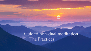 Blue hills as scene for non-dual meditation practice