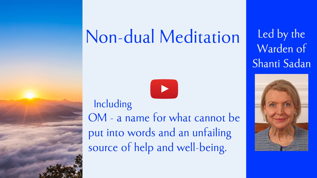 Link to event on non-dual meditation and OM