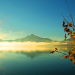 Sun on water and link to non-dual meditation